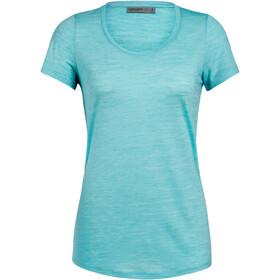 Icebreaker Sphere Scoop T-shirt manches courtes Col ras-du-cou bas Femme, lagoon